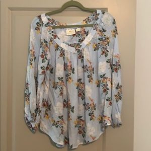 Anthropology floral blouse